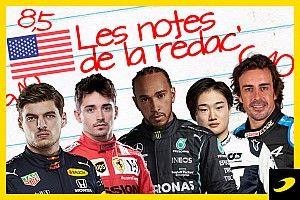 Les notes du Grand Prix des États-Unis 2021