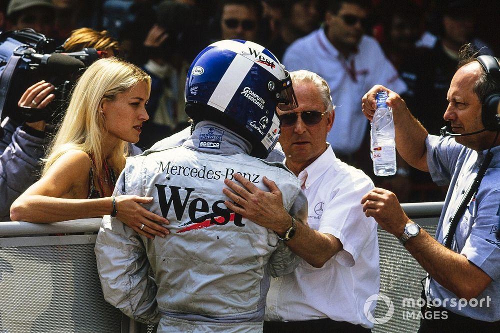 When Coulthard escaped a plane crash, then scored a podium