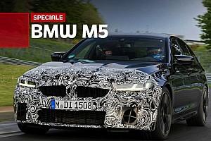 Nuova BMW M5, la prima prova (camuffata) al Nurburgring