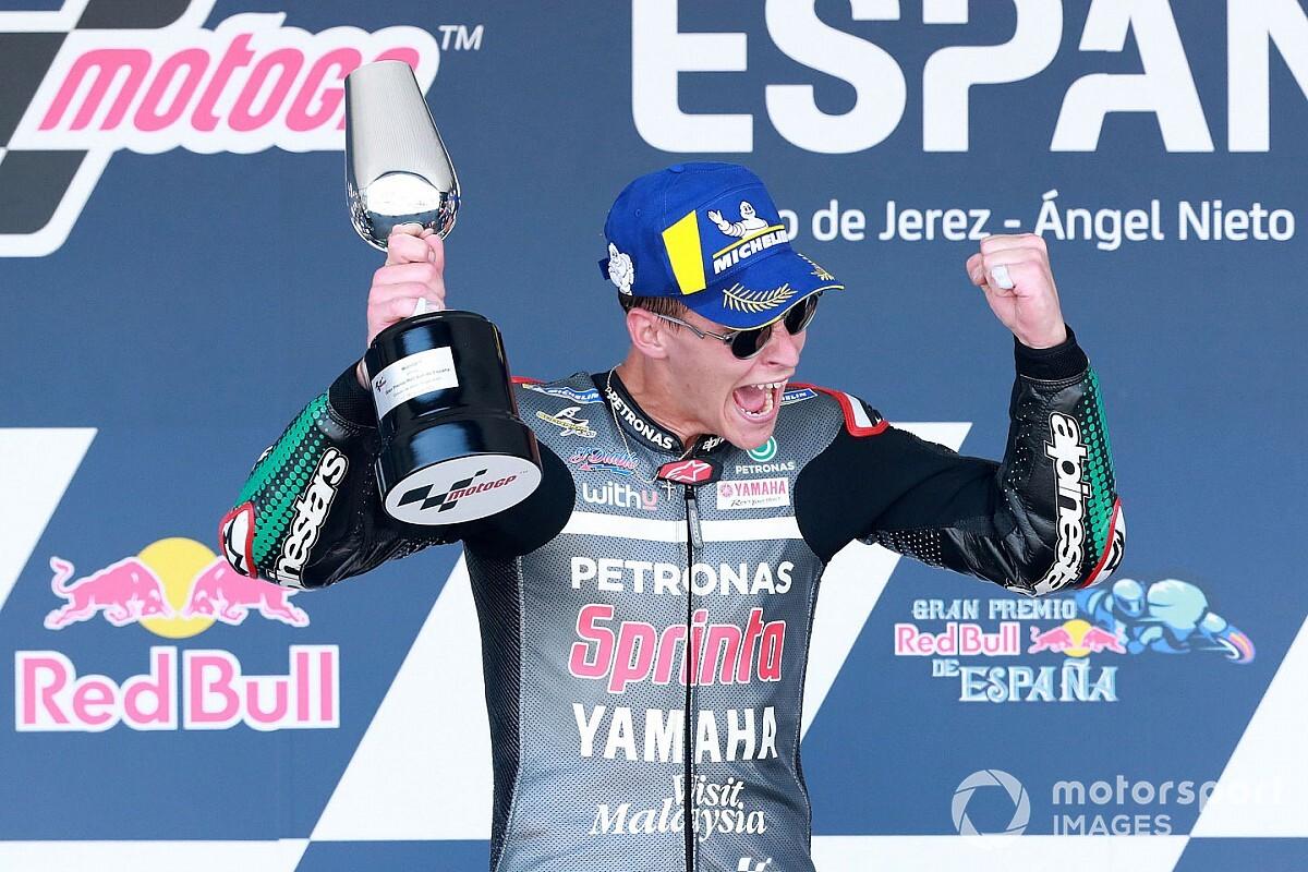 Jerez MotoGP: Quartararo wins as Marquez crashes hard