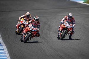 MotoGP Motorsport.com hírek Doviziso szerint vicces volt a jerezi hármas bukás