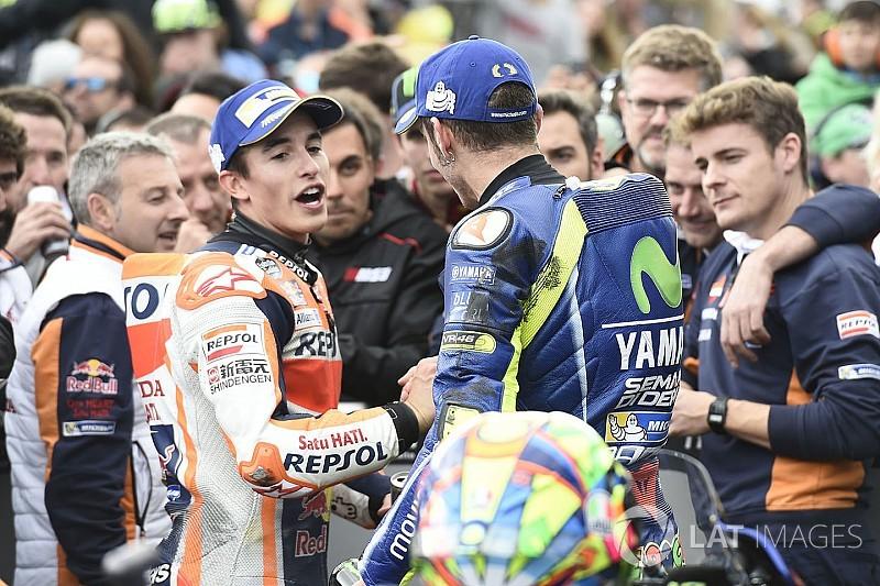 Márquez, un año por delante de Rossi