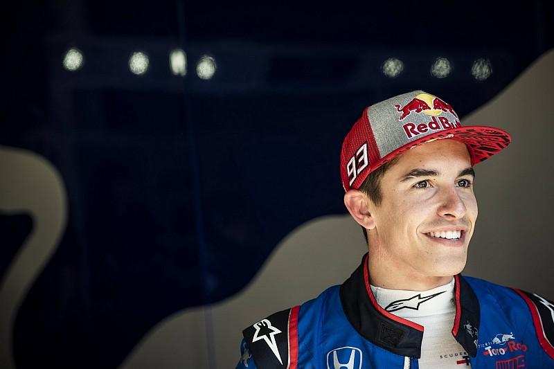 Marquez kreeg lach niet meer van gezicht na F1-testdebuut