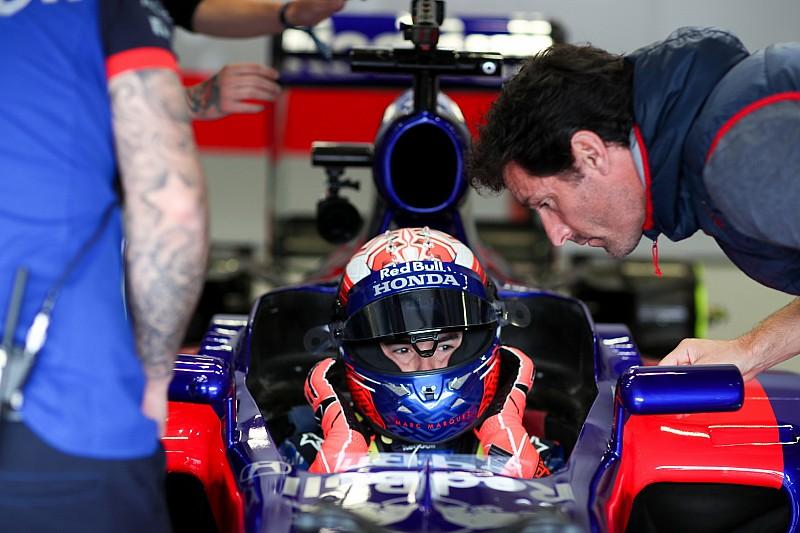Márquez se estrena con el Toro Rosso en Austria