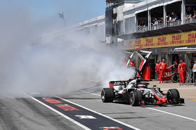 Grosjean se ríe de su mala suerte en Canadá