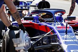 GALERI: Aksi Sean Gelael di tes F1 Hungaroring