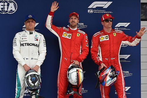 Vettel verslaat Raikkonen in strijd om pole, Verstappen vijfde
