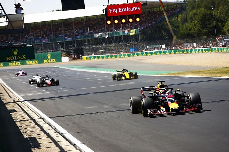 Starting grid GP Inggris 2018