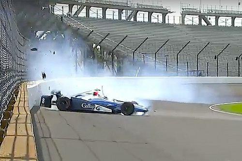Indy 500: Chilton Cumartesi antrenmanlarında kaza yaptı