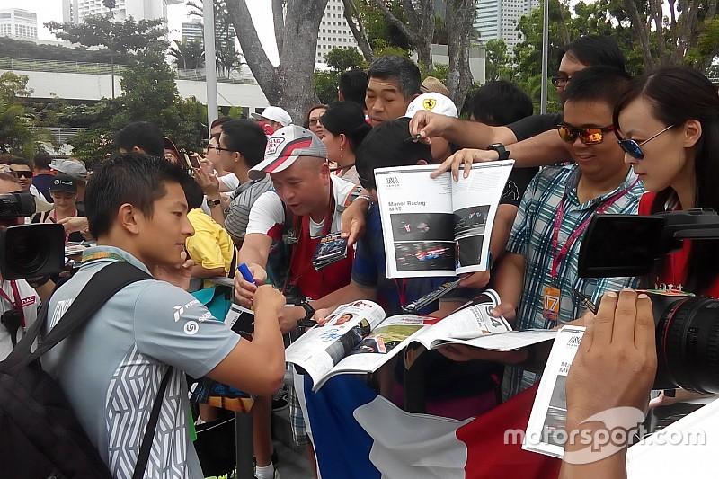 Aktivitas Rio Haryanto di GP Singapura