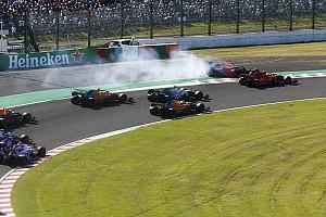 """Verstappen chama Leclerc de """"irresponsável"""" após colisão no GP do Japão"""