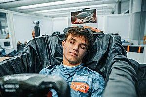 Vídeo: el desternillante show de Norris durante la F1 virtual