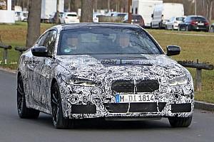 Hiába az álca, a kémfotókon így is látszik az új 4-es sorozatú BMW hatalmas hűtőrácsa