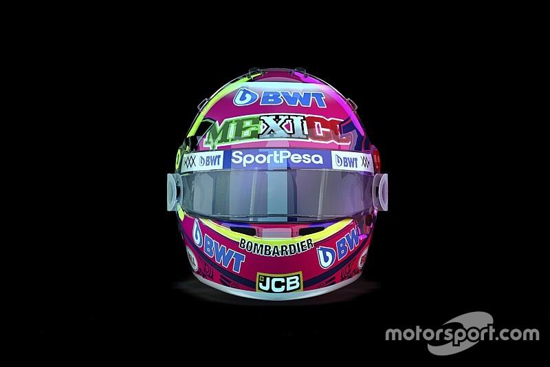 Pérez különleges F1-es sisakfestése a Mexikói Nagydíjra