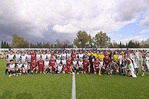 Vídeo: el partido entre las leyendas de la Roma y los pilotos de Fórmula E