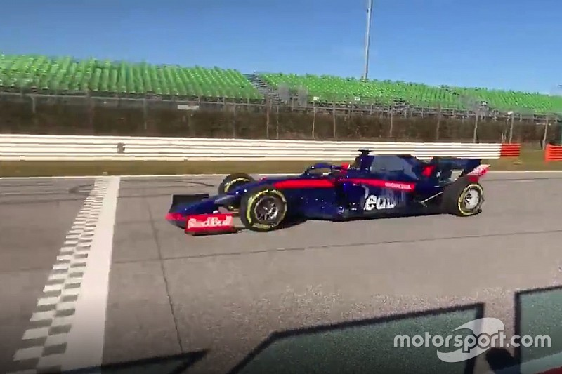 Sorpresa Toro Rosso: la STR14 ha fatto lo shakedown questa mattina con Kvyat a Misano Adriatico!