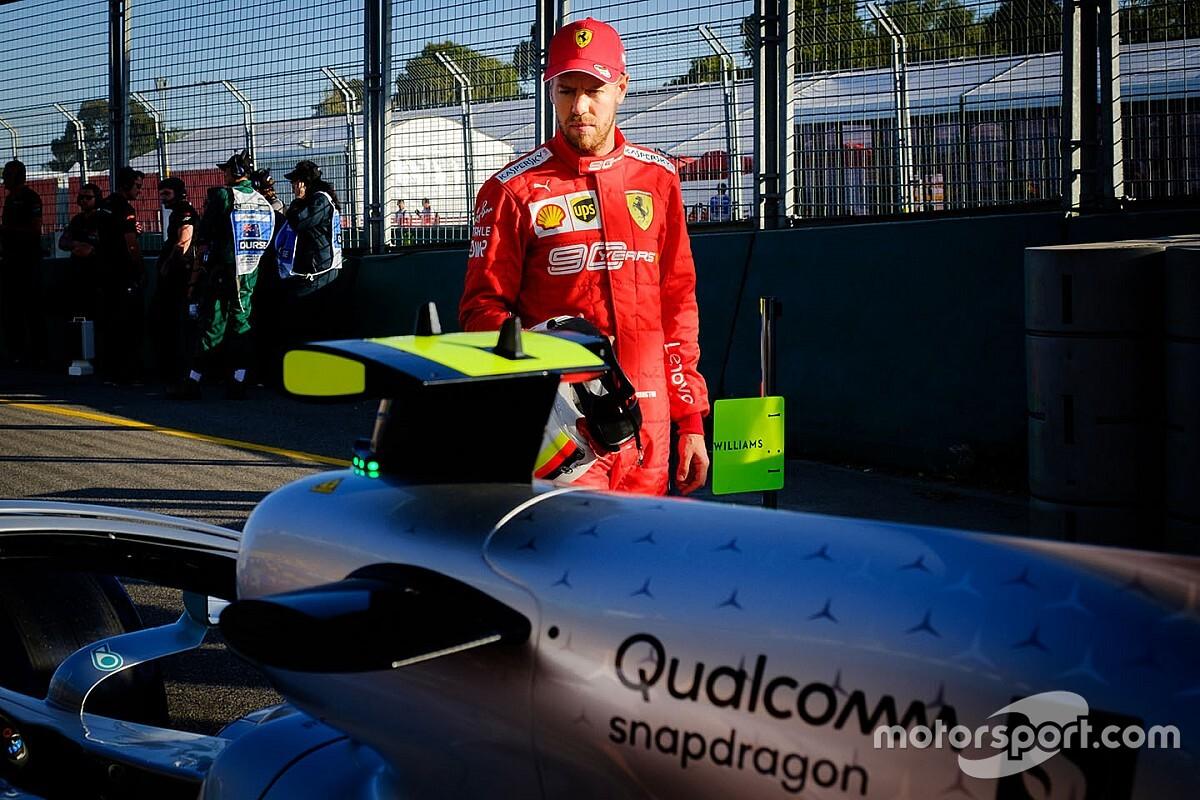 """Vettel qualifie de """"choquante"""" la victoire """"facile"""" de Mercedes"""