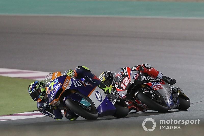 Moto2 in Katar: Baldassarri 0,026s vor Lüthi, Schrötter auf dem Podium