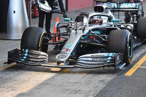 Rivoluzione Mercedes: la W10 di Hamilton è tutta nuova a cominciare dal muso!