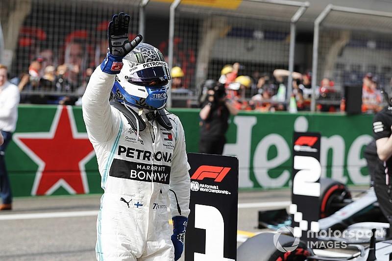"""F1中国GP予選:ボッタスがF1""""1000レース目""""でPP獲得! フェルスタッペンは5番手"""