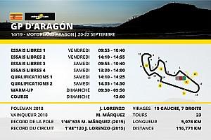 Le programme du Grand Prix d'Aragón