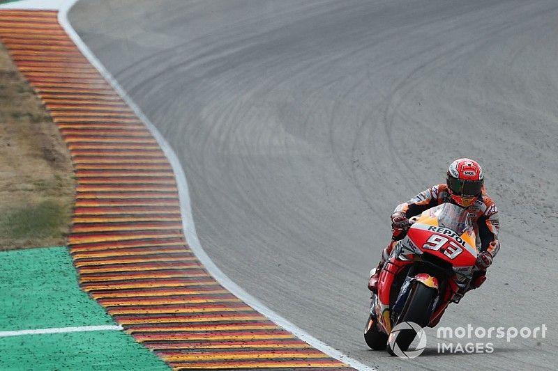 Sachsenring MotoGP: Marquez fastest, Rossi and Dovizioso to Q1