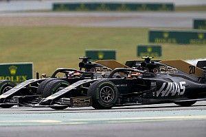 Пилоты Haas столкнулись на второй гонке подряд. Магнуссен обвинил во всем Грожана