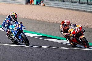 Silverstone MotoGP: Rins beats Marquez with last-turn pass