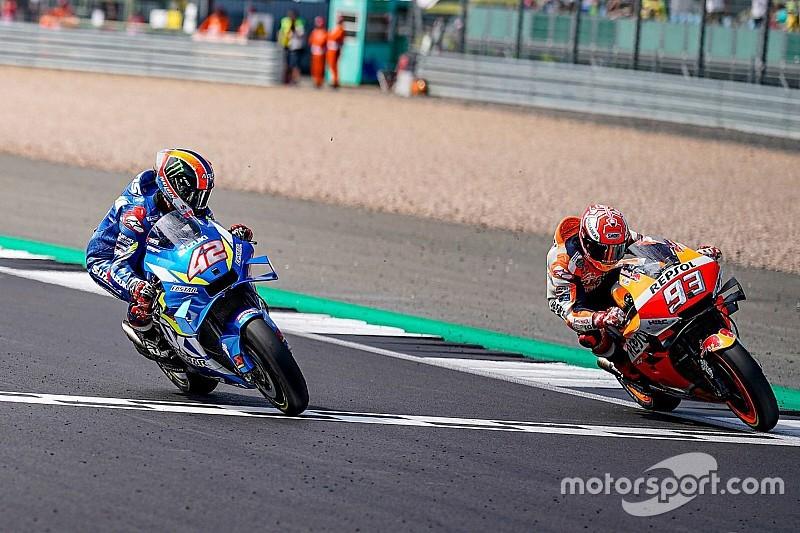 Rins vence a Márquez sobre la meta en Silverstone