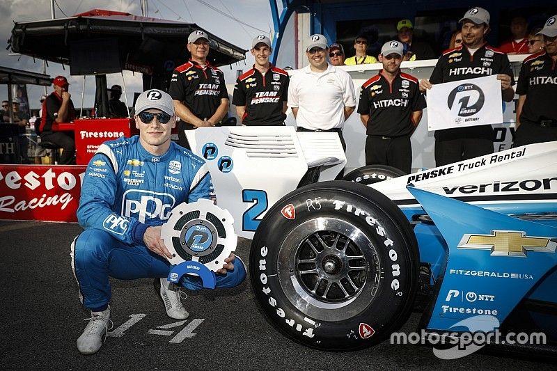 Newgarden na pole position