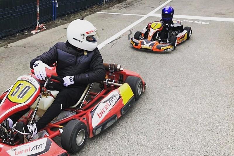 Raikkonen, oğlu Robin'le karting çalışmasına devam ediyor