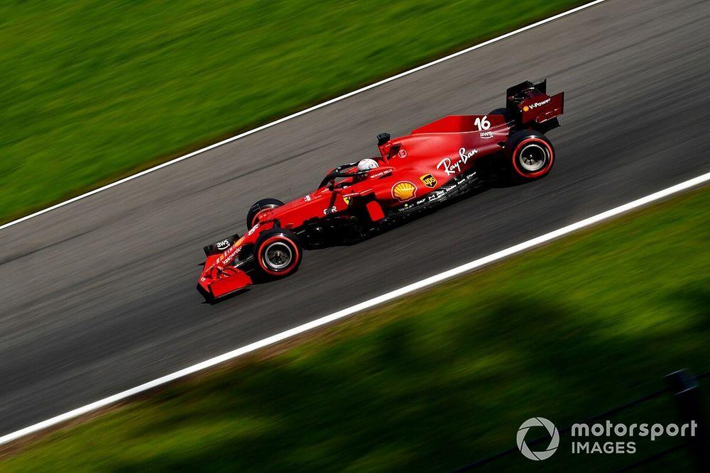 Ferrari changes Leclerc's F1 chassis after Belgian GP FP2 crash damage