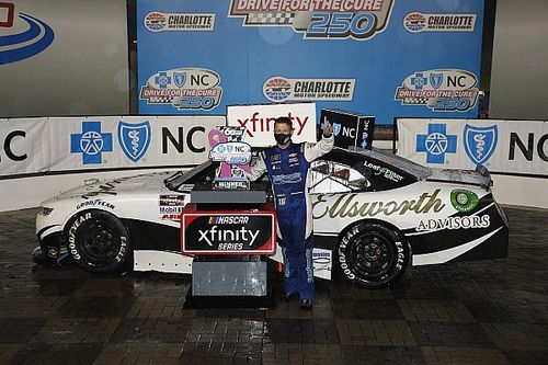 Allmendinger wins chaotic, soaked Xfinity race at Charlotte Roval