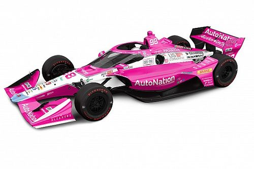 """Special """"Drive Pink"""" livery for Andretti in Harvest GP"""