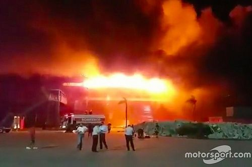 Huge fire wrecks Argentina MotoGP venue