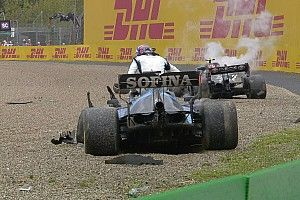 Polémico accidente entre Bottas y el junior de Mercedes, Russell, en Imola