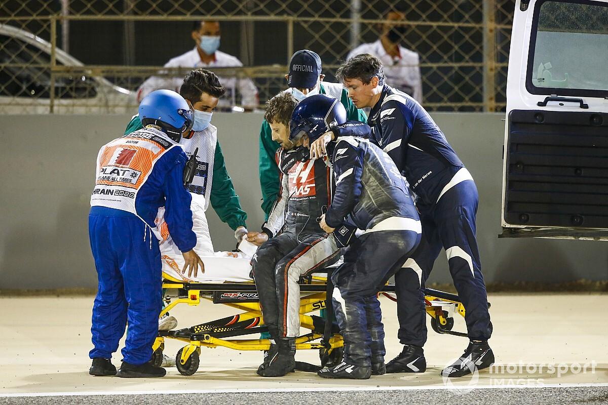 Autosportwereld reageert met afgrijzen op ongeluk Grosjean