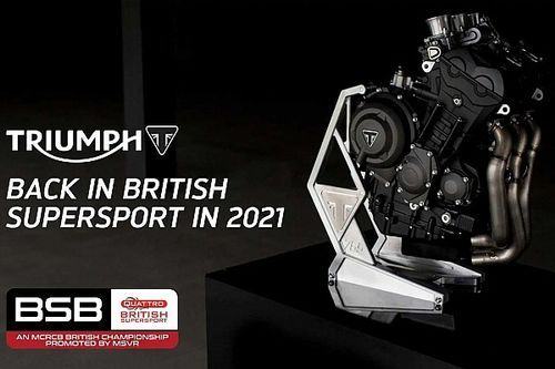 Triumph is getting Into British Supersport for 2021