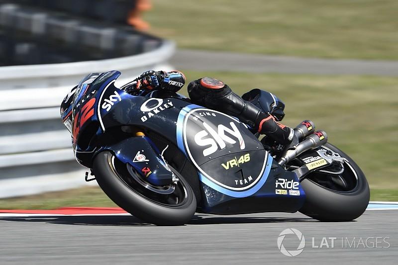 Moto2 Brno: Bagnaia voert het veld aan in derde training