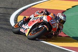 Márquez domina en Aragón con Lorenzo a una décima y las Yamaha a un segundo