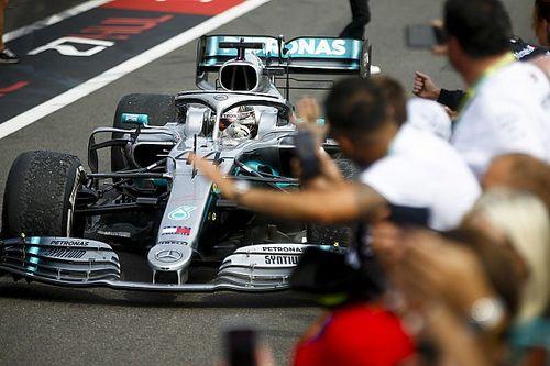Hamilton temía que su neumático reventara