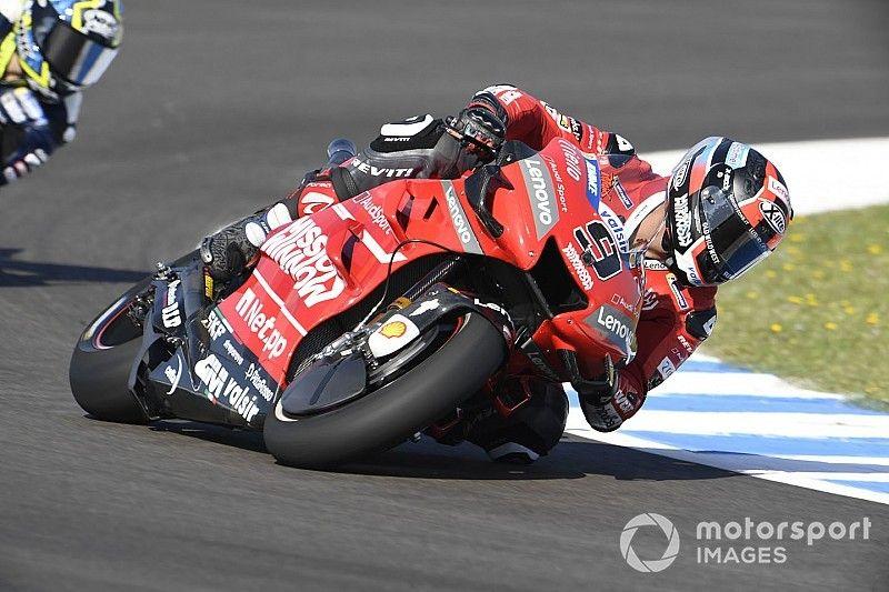 Jerez MotoGP: Petrucci tops red-flagged FP2