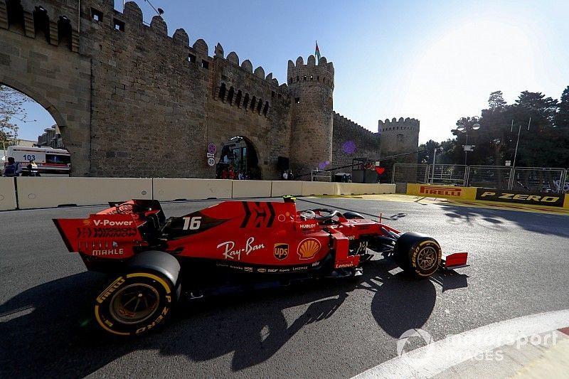 Leclerc y Ferrari asustan antes de la clasificación