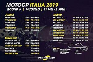 Jadwal lengkap MotoGP Italia 2019