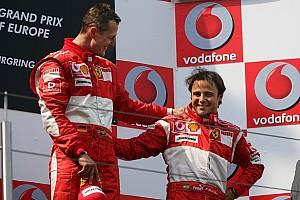 """Massa admite que sabe sobre estado de saúde de Schumacher: """"Rezo para que ele volte a aparecer"""""""