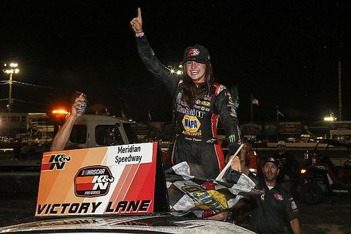 "Hailie Deegan says first NASCAR win is ""best day of my life"""