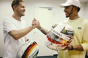 Hamilton et Vettel échangent leurs casques après Abu Dhabi