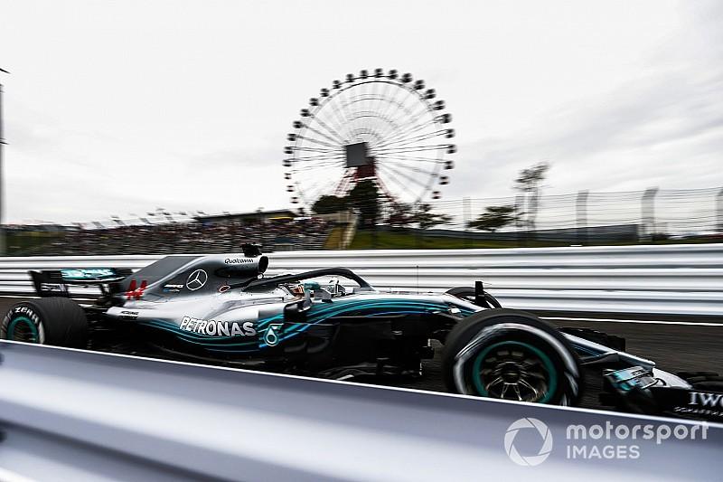 日本GPフリー走行2回目:午前に続いてメルセデス勢がワンツーを維持