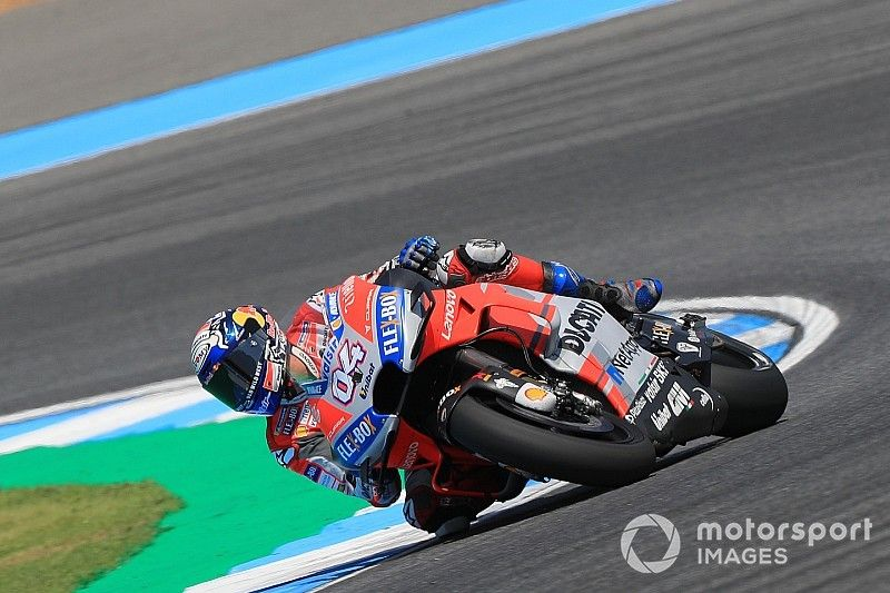 Thailand MotoGP: Dovizioso tops FP2, Lorenzo suffers huge shunt