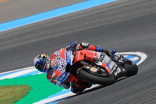 Dovizioso lidera dia na Tailândia; Lorenzo sofre queda forte